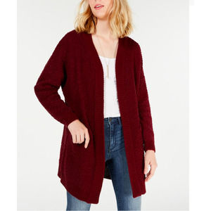 Say What?  Open-Front Textured Cardigan SIZE XL